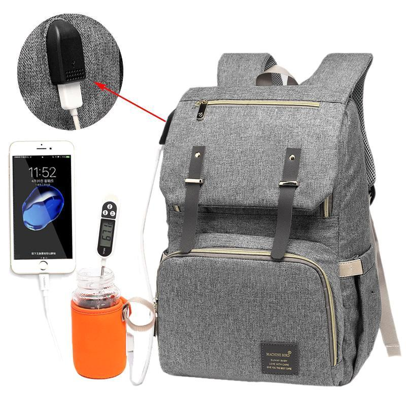 Large Capacity USB Charger Laptop Diaper Bag