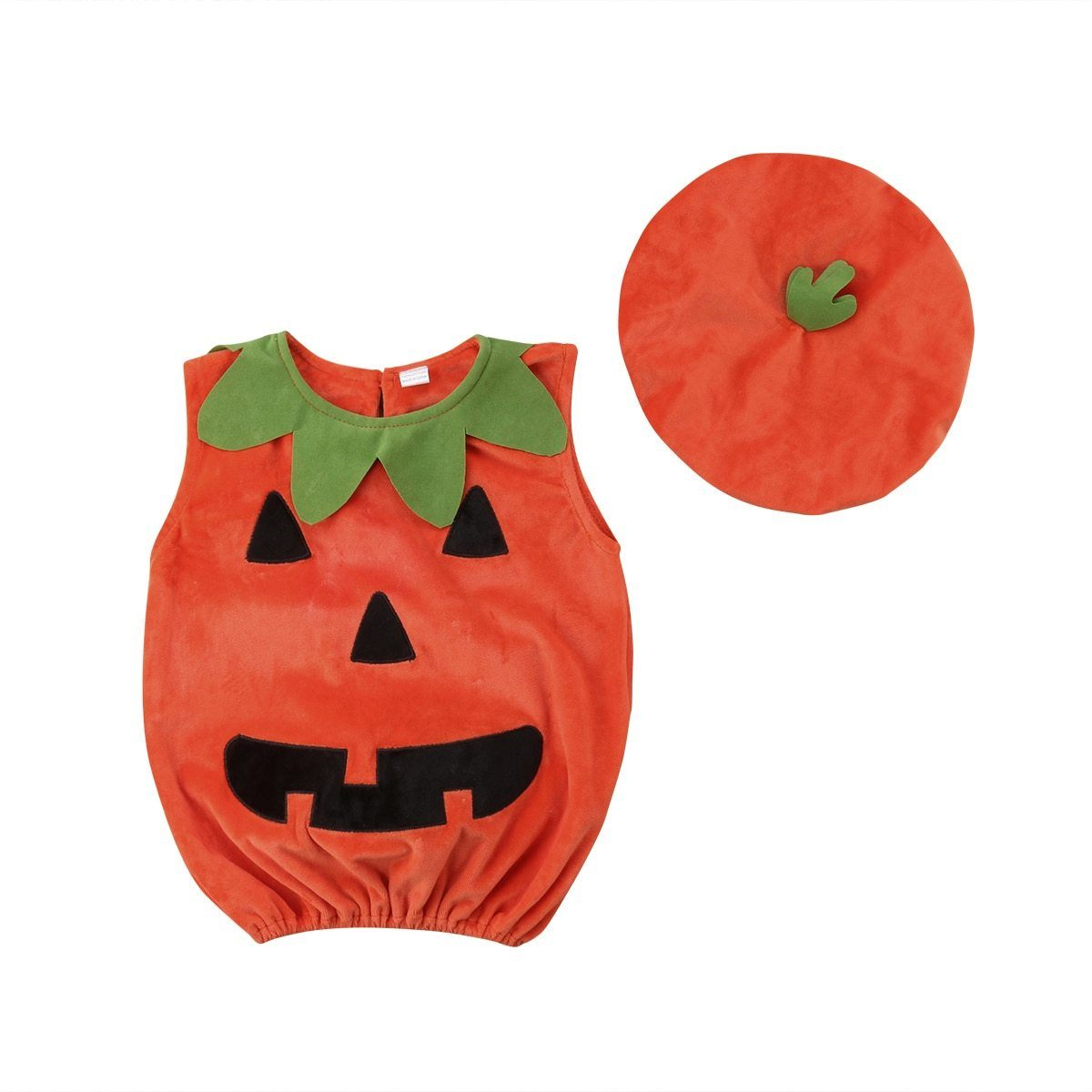 Cute Halloween Pumpkin Romper + Hat
