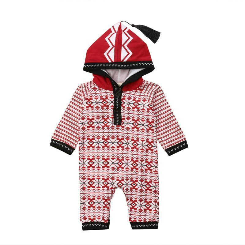 Cute Hooded Christmas Jumpsuit