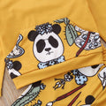 Colorful Panda Hooded Set