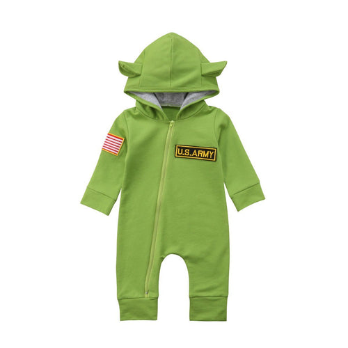Cute US Army Hooded Jumpsuit