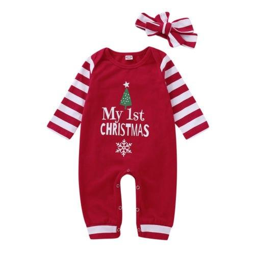My First Christmas Romper + Headband