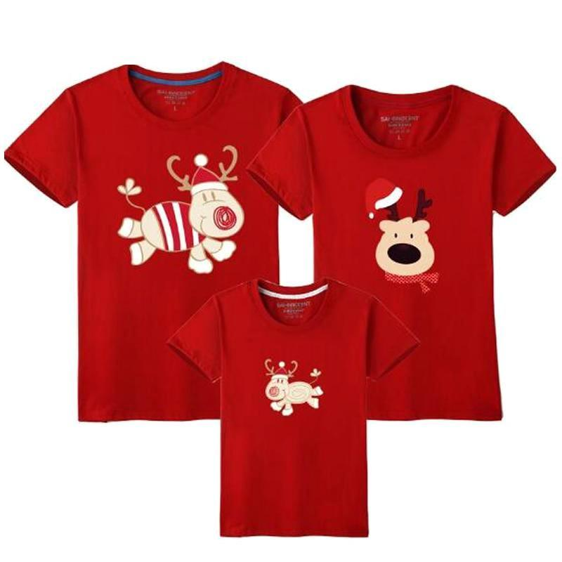 Family Matching Christmas Reindeer T-Shirts