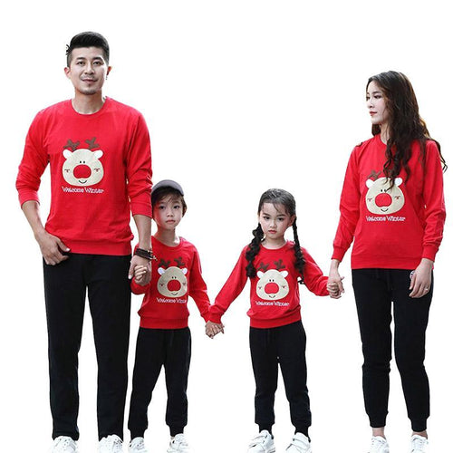 Welcome Winter Family Matching Sweaters