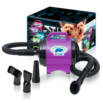 B-Air Bear Fido Max 1 Purple Ribbon, B-AIR DRYERS, Bair - Love Groomers