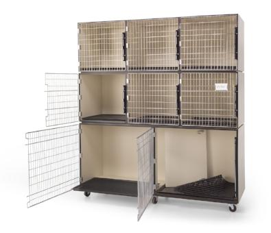 PetLift 6′ Laminated Cage Assembly (8 cages), PetLift Cages - Love Groomers