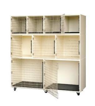 6′ Laminated Cage Assembly ( 9 cages, 4 x 3 x 2), PetLift Cages, Petlift - Love Groomers