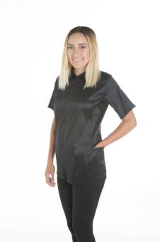 Camilla Grooming Jacket - Stretchfit Black, Angels Grooming Apparel - Love Groomers