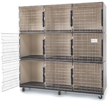 6′ Laminated Cage Assembly (9 cages), PetLift Cages, Petlift - Love Groomers
