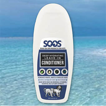 SOOS Natural Sea Deep Hydrating Leave-In Pet Condtioner, Soos Conditioner - Love Groomers