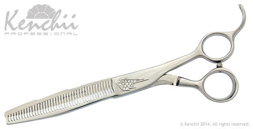 "Kenchii Lightning by Jonathan David 40-tooth 7.0"" Grooming Thinner, Kenchii Righty Thinners - Love Groomers"