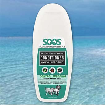 SOOS Natural Dead Sea Hypoallergenic Revitalizing Leave-In Pet Conditioner, Soos Conditioner - Love Groomers
