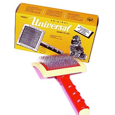 Franks Universal Slicker Brush Large Curved, Slicker Brush, Millers Forge - Love Groomers