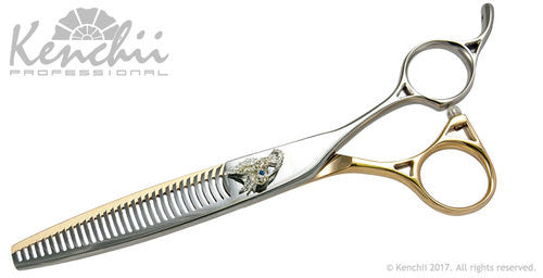 "Kenchii Lisa Leady 30-tooth 7.0"" Double Thinner, Kenchii Righty Thinners - Love Groomers"