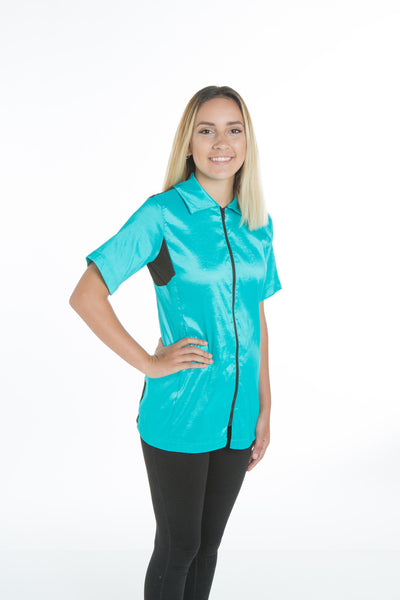 Camilla Grooming Jacket - StretchFit Turquoise, Angels Grooming Apparel, Love Groomers - Love Groomers