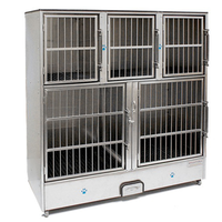 Groomer's Best 5 Unit Cage Bank, Preassembled Cage Bank Units, Groomer's Best - Love Groomers
