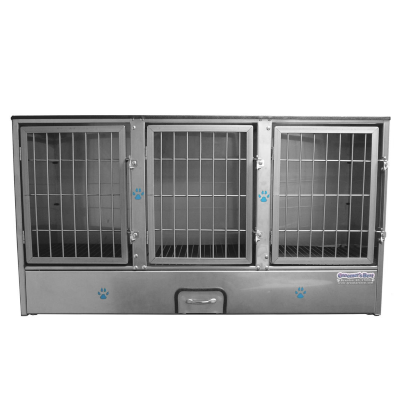 Groomer's Best 3 Unit Cage Bank, Preassembled Cage Bank Units, Groomer's Best - Love Groomers