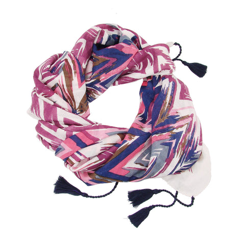 Flamestitch Scarf - Pink Handmade and Fair Trade