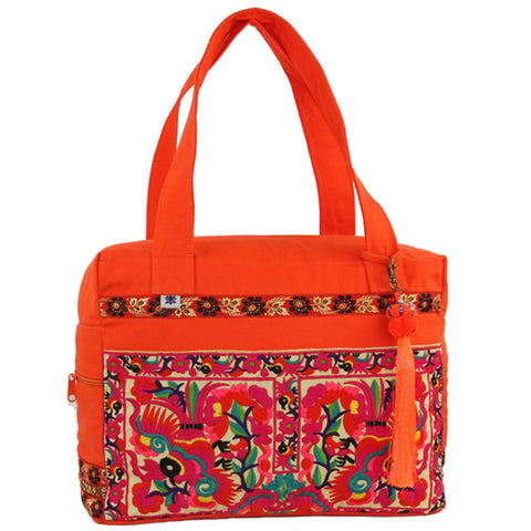 Hmong Retreat Bag - Orange - Global Groove (B)