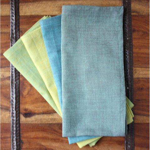 Grass to Sky 20 inch Cotton Napkin Set of 4 - Sustainable Threads (L)