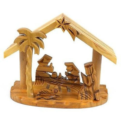 Olive Wood Small Beams Nativity Handmade and Fair Trade