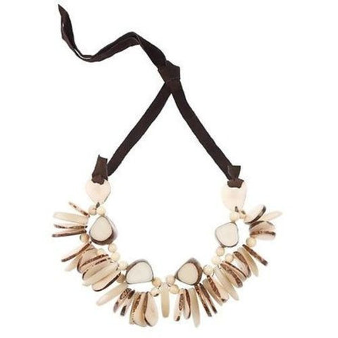Rhumba Necklace in Cream Handmade and Fair Trade
