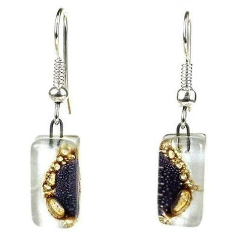Coffee Bean Design Small Glass Earrings Handmade and Fair Trade