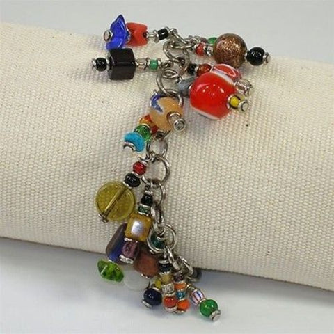 Colorful Enjoyment Charm Bracelet Handmade and Fair Trade