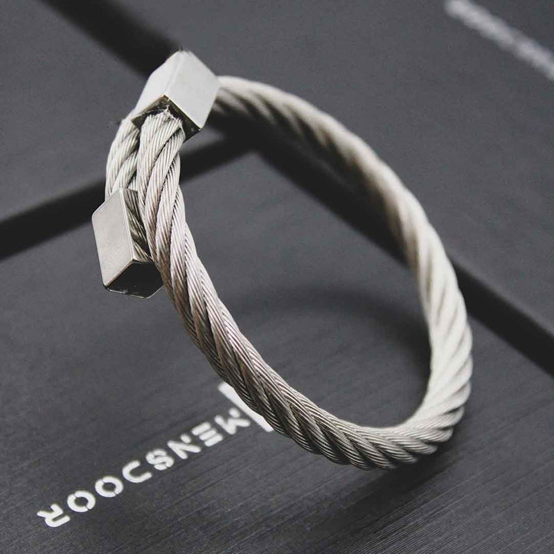 CHIC STAINLESS STEEL BANGLE FOR MEN