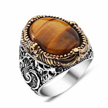 "Royal ring ""Original tiger eye stone""  (model# R301)"