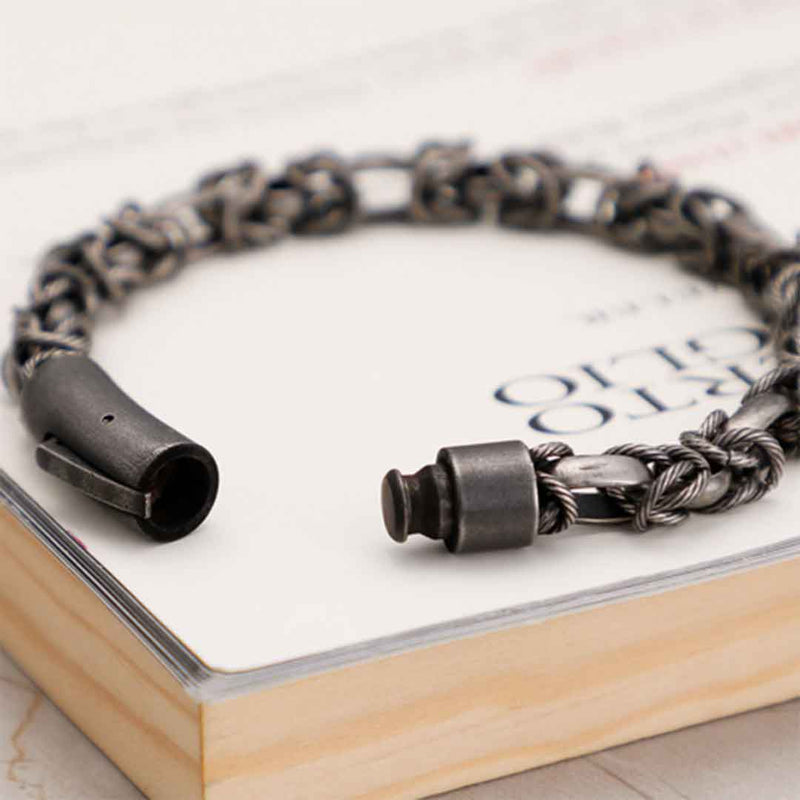 TRENDY STAINLESS STEEL BRACELET FOR MEN
