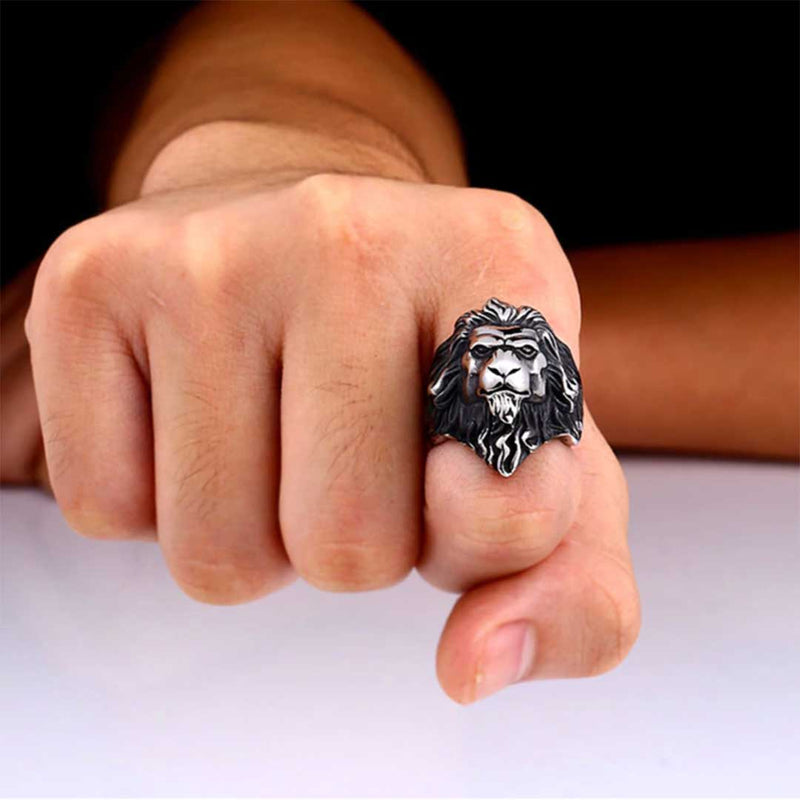 Mensdoor lionheart men's ring design