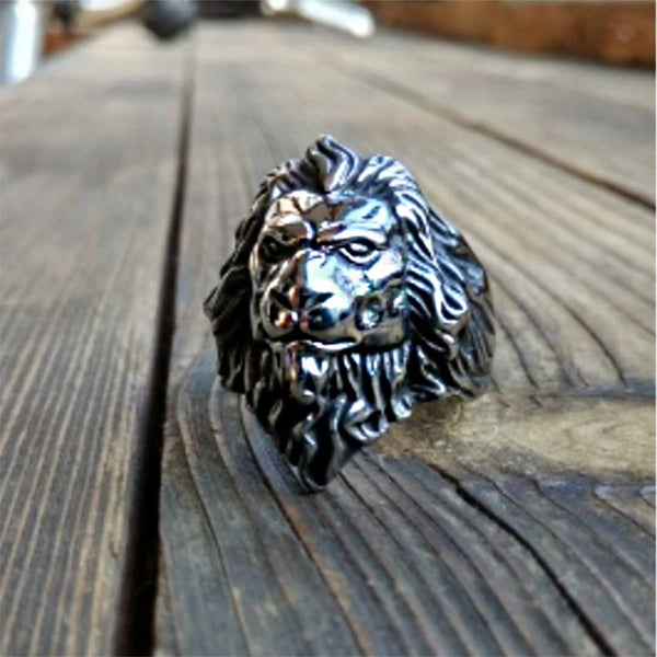 Lion ring strong style (model# R305)