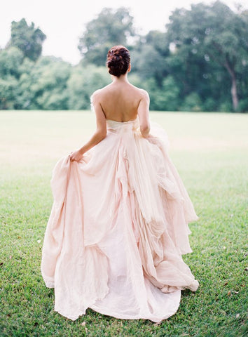 blush wedding dress lily houston design