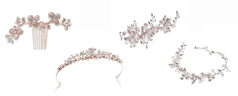image of rose gold hair accessories lily houston design
