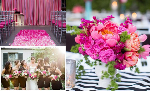 lily houston design image of bright pink accents at wedding