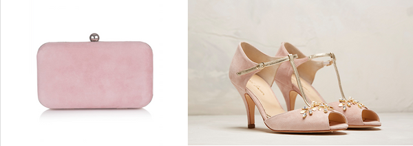 lily houston design mia bag and amalia shoes in powder pink