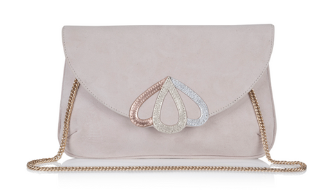 lily houston design opal blush clutch bag