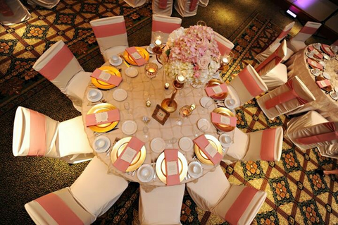 rose gold table setting