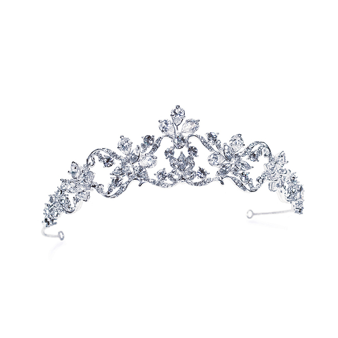 Adelle bridal tiara with crystals