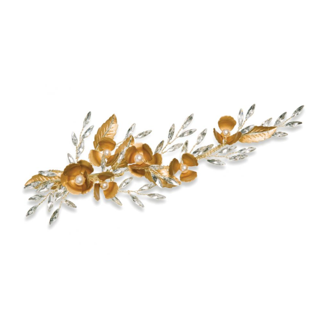 adonia bronze and crystal hair clip