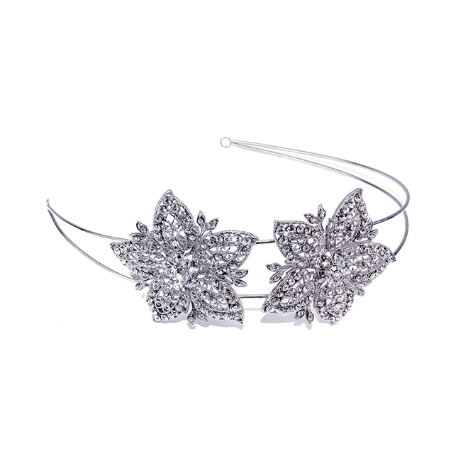 Avalon crystal star flower wedding headband
