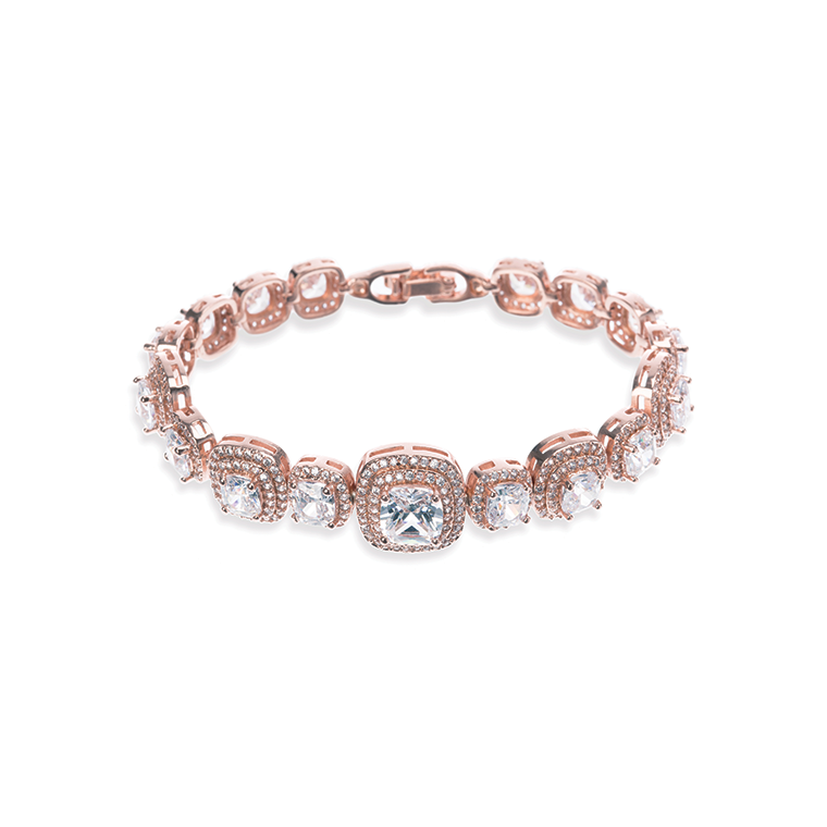 Belize Rose gold bridal bracelet