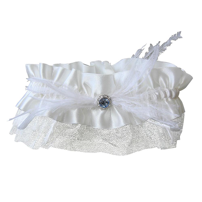 Bluebell bridal garter