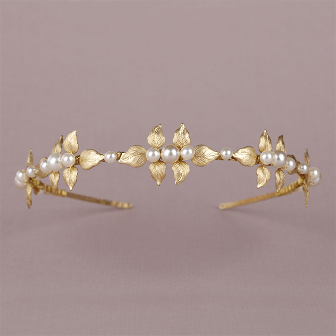 Brockhurst gold wedding headband product image
