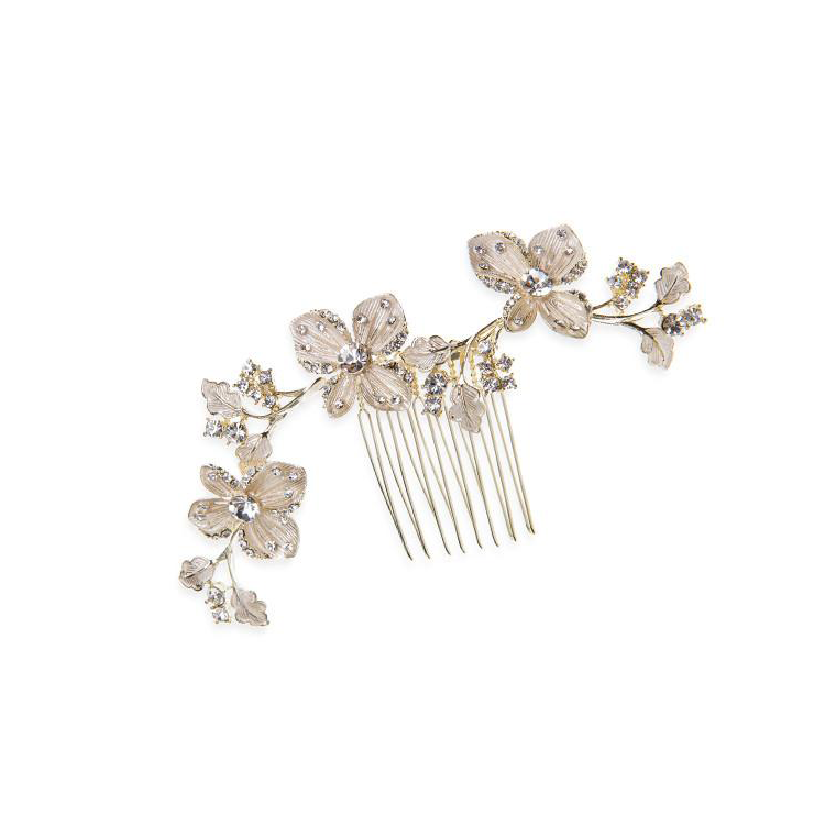 Buttercup gold bridal hair comb