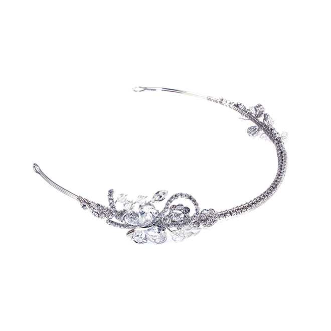 Butterfly - crystal side headband