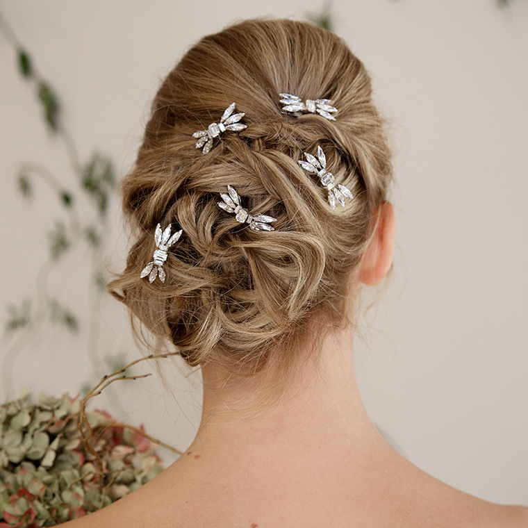 Dragonfly bridal hair pins - set of five