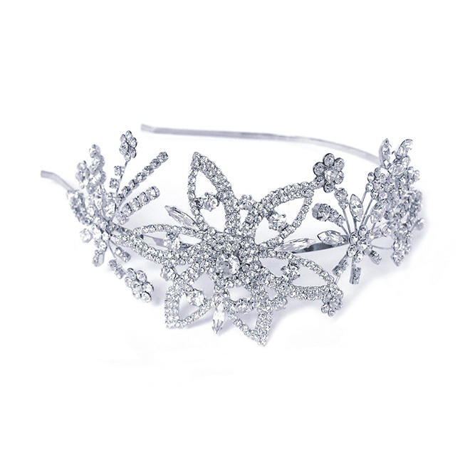 Enchantment vintage style crystal bridal side headband