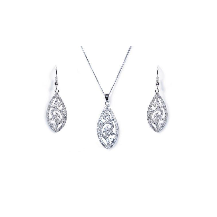 Fitzgerald bridal necklace and earring set